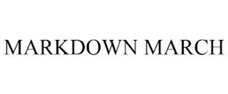 MARKDOWN MARCH