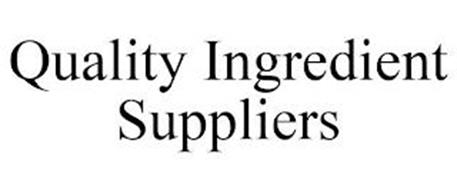 QUALITY INGREDIENT SUPPLIERS