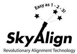 EASY AS 1-2-3! SKYALIGN REVOLUTIONARY ALIGNMENT TECHNOLOGY