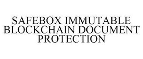 SAFEBOX IMMUTABLE BLOCKCHAIN DOCUMENT PROTECTION