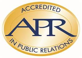 APR ACCREDITED IN PUBLIC RELATIONS