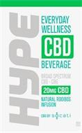 HYPE EVERYDAY WELLNESS CBD BEVERAGE BROAD SPECTRUM CBD-CBG 20MG CBD NATURAL ROOIBOS INFUSION CBD BY SOCATI ND THC