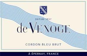 DEPUIS 1837 DE VENOGE CORDON BLEU BRUT À ÉPERNAY FRANCE