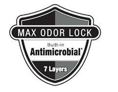 MAX ODOR LOCK BUILT-IN ANTIMICROBIAL* 7LAYERS