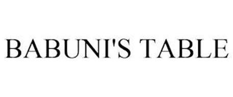 BABUNI'S TABLE