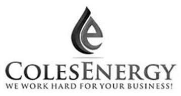 CE COLESENERGY WE WORK HARD FOR YOUR BUSINESS!