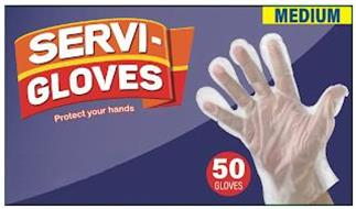 SERVI-GLOVES PROTECT YOUR HANDS 50 GLOVES MEDIUM