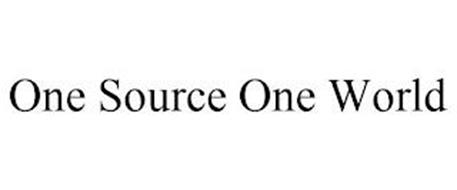 ONE SOURCE ONE WORLD