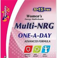 WOMEN'S ENERGY MULTIVITAMIN MULTI-NRG ONE-A-DAY ADVANCED FORMULA IMMUNITY BOOSTER ANTI-OXIDANT ANTI-FATIGUE FROM A COMPLETE TO ZN+ 30+15 FREE