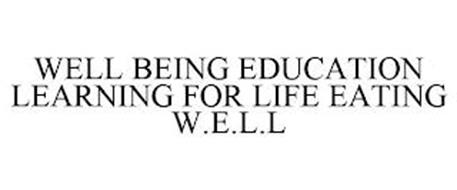 WELL BEING EDUCATION LEARNING FOR LIFE EATING W.E.L.L