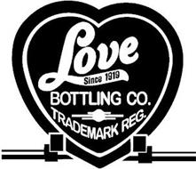 LOVE SINCE 1919 BOTTLING CO. TRADEMARK REG.