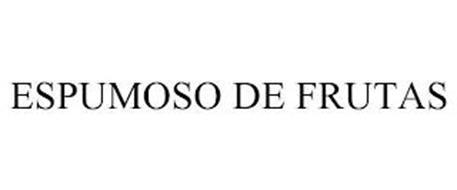 ESPUMOSO DE FRUTAS