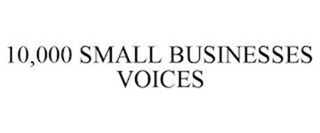 10,000 SMALL BUSINESSES VOICES