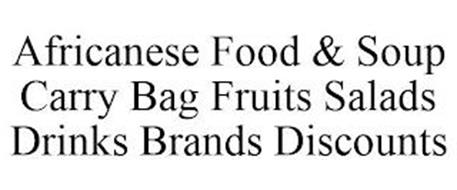 AFRICANESE FOOD & SOUP CARRY BAG FRUITS SALADS DRINKS BRANDS DISCOUNTS