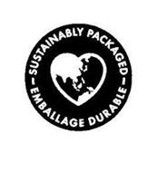 SUSTAINABLY PACKAGED EMBALLAGE DURABLE