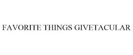FAVORITE THINGS GIVETACULAR