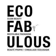 ECO FAB ULOUS CLEAN BEAUTY RECYCLABLE PACKAGING BEAUTÉ PROPRE EMBALLAGE ÉCOLOGIQUE