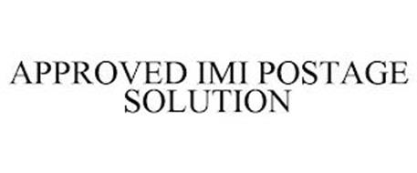 APPROVED IMI POSTAGE SOLUTION