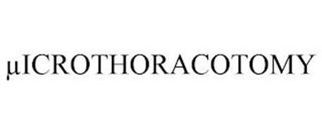 µICROTHORACOTOMY
