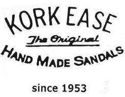 KORK EASE THE ORIGINAL HAND MADE SANDALS SINCE 1953