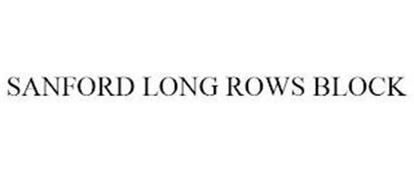 SANFORD LONG ROWS BLOCK