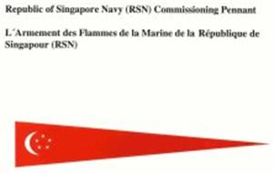 REPUBLIC OF SINGAPORE NAVY (RSN) COMMISSIONING PENNANT
