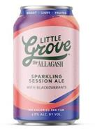 BRIGHT LIGHT FRUITED LITTLE GROVE BY ALLAGASH SPARKLING SESSION ALE WITH BLACKCURRANTS 100 CALORIES PER CAN 3.8% ALC. BY VOL.