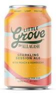 BRIGHT LIGHT FRUITED LITTLE GROVE BY ALLAGASH SPARKLING SESSION ALE WITH PEACH & KOMBUCHA 100 CALORIES PER CAN 3.6% ALC. BY VOL.