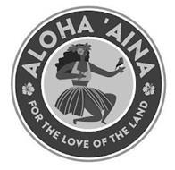 ALOHA 'AINA FOR THE LOVE OF THE LAND