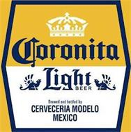 CORONITA LIGHT BEER BREWED AND BOTTLED BY CERVECERIA MODELO MEXICO