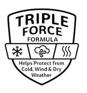 TRIPLE FORCE FORMULA HELPS PROTECT FROM COLD, WIND & DRY WEATHER