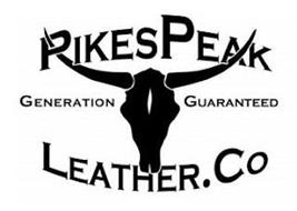 PIKES PEAK LEATHER. CO GENERATION GUARANTEED