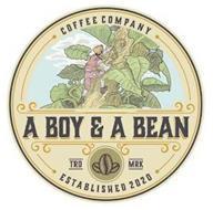 A BOY & A BEAN COFFEE COMPANY ESTABLISHED 2020 TRD MRK