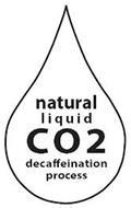 NATURAL LIQUID CO2 DECAFFEINATION PROCESS