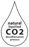 NATURAL LIQUIFIED CO2 DECAFFEINATION PROCESS