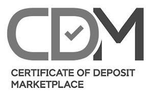 CDM CERTIFICATE OF DEPOSIT MARKETPLACE