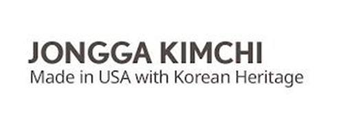 JONGGA KIMCHI MADE IN USA WITH KOREA HERITAGE