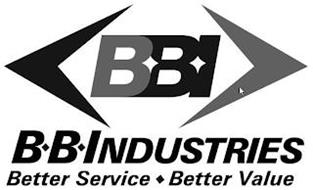 BBI BB INDUSTRIES BETTER SERVICE BETTER VALUE