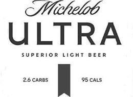 MICHELOB ULTRA SUPERIOR LIGHT BEER 2.6 CARBS 95 CALS