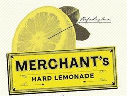 MERCHANT'S HARD LEMONADE REFRESHING LEMON