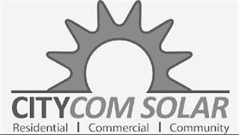 CITYCOM SOLAR RESIDENTIAL COMMERCIAL COMMUNITY