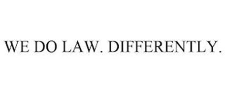 WE DO LAW. DIFFERENTLY.