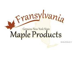 FRANSYLVANIA GENUINE NEW YORK STATE MAPLE PRODUCTS REVELATION 22:17
