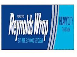 FOIL MADE IN USA REYNOLDS WRAP EASY PREP. EASY COOK. EASY CLEAN. HEAVYDUTY THICK & DURABLE