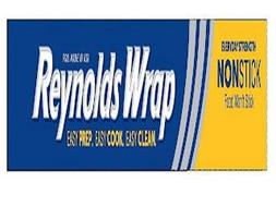 FOIL MADE IN USA REYNOLDS WRAP EASY PREP. EASY COOK. EASY CLEAN. EVERYDAY STRENGTH NONSTICK FOOD WON'T STICK