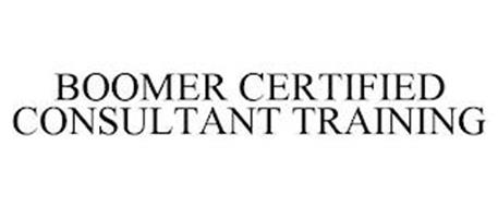 BOOMER CERTIFIED CONSULTANT TRAINING