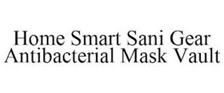 HOME SMART SANI GEAR ANTIBACTERIAL MASK VAULT