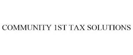 COMMUNITY 1ST TAX SOLUTIONS
