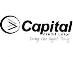 CAPITAL CREDIT UNION DOING THE RIGHT THING
