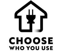 CHOOSE WHO YOU USE